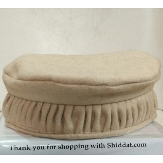 Afghani Pakol Hat-Cream